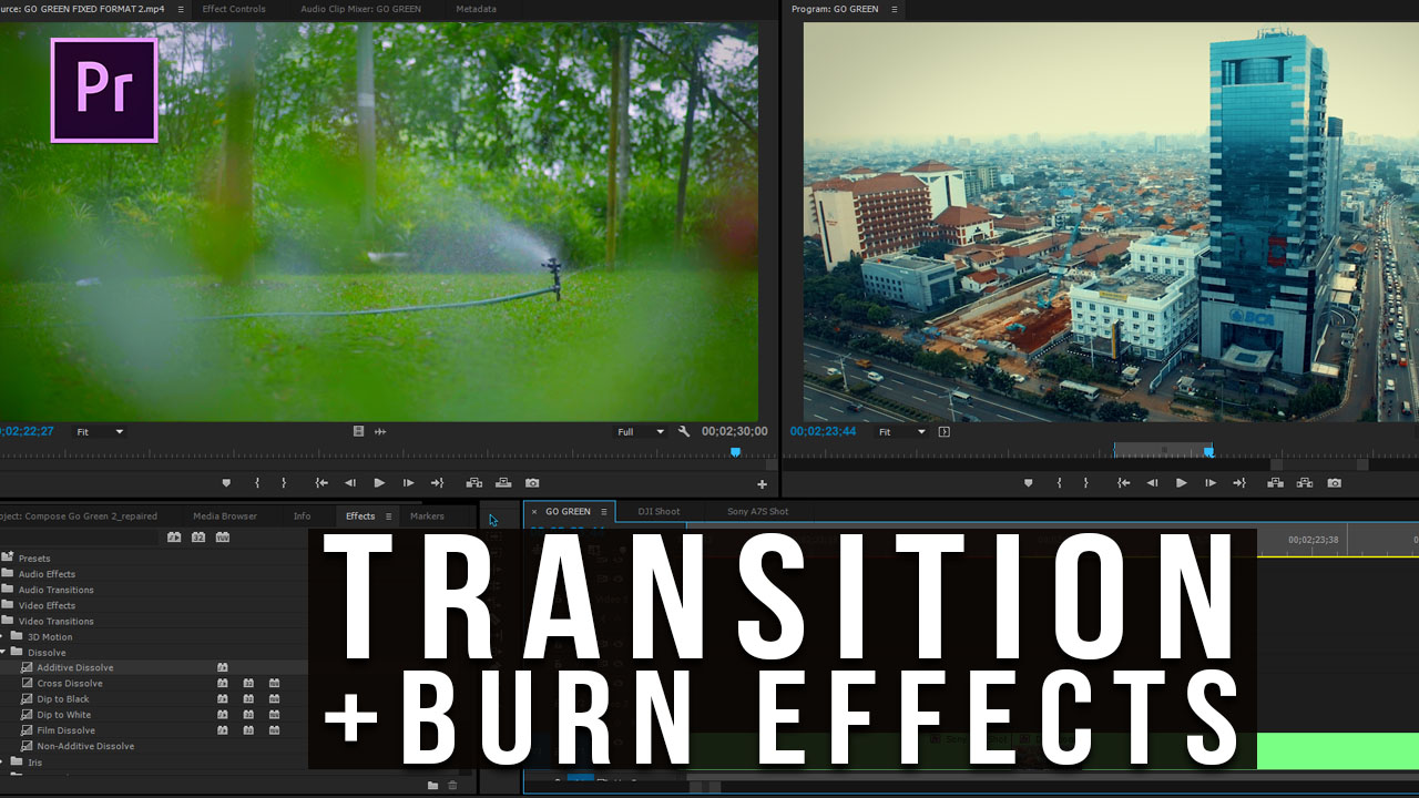 Tutorial Premiere Pro Transition & Burn Effects