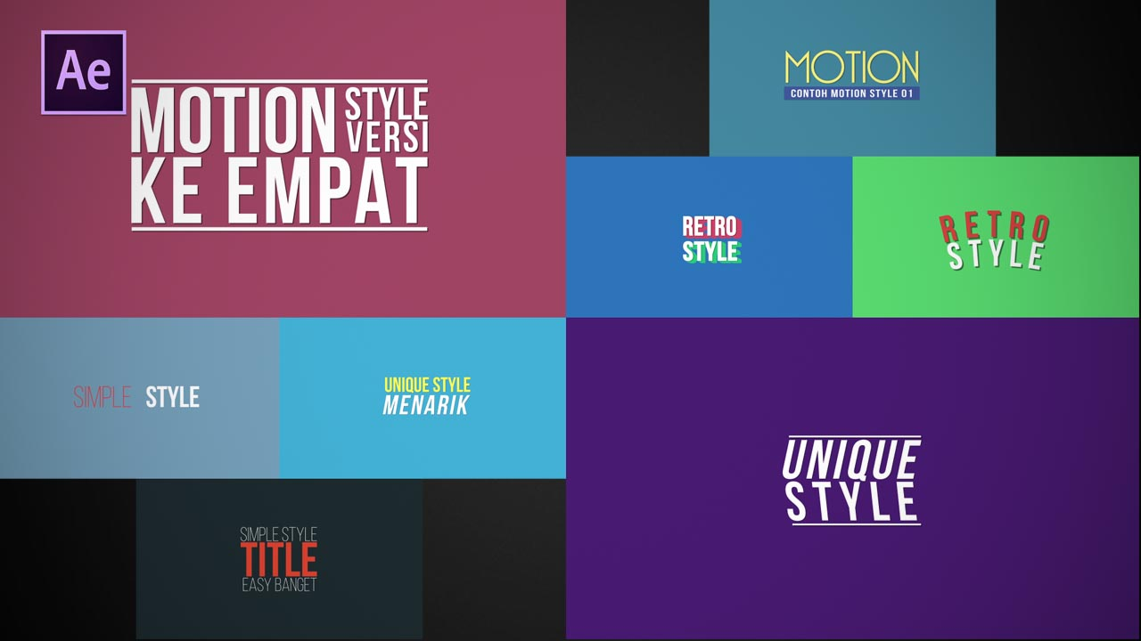After Effects Motion titles pack Free download