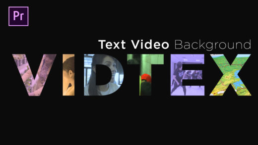 Text Dengan Background Video Per Huruf